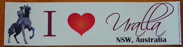 I love Uralla bumper sticker